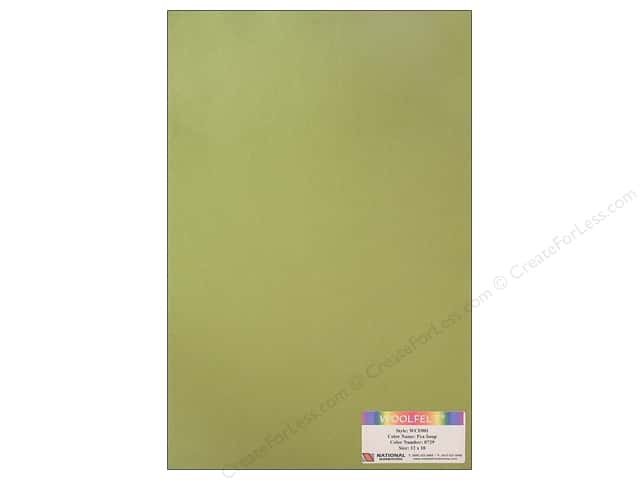 National Nonwovens 20% Wool Felt 12 x 18 in. Pea Soup