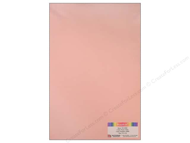 National Nonwovens 20% Wool Felt 12 x 18 in. Pink