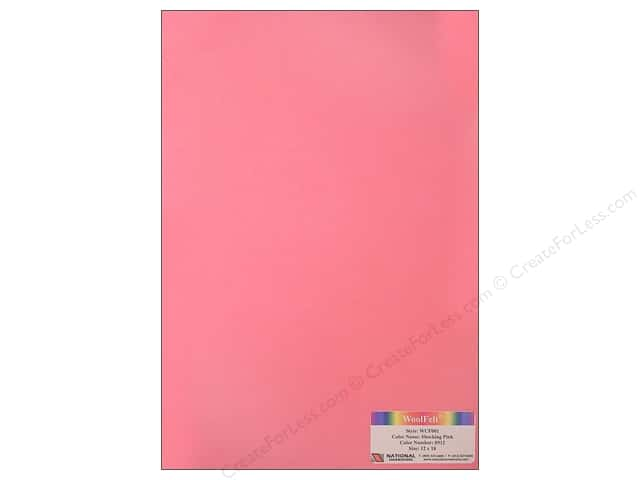 National Nonwovens 20% Wool Felt 12 x 18 in. Shocking Pink