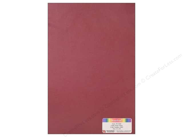 National Nonwovens WoolFelt 12 x 18 in. 20% Plum (12 sheets)