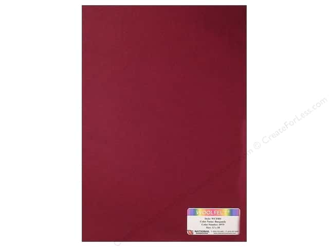 National Nonwovens WoolFelt 12 x 18 in. 20% Burgundy (10 sheets)