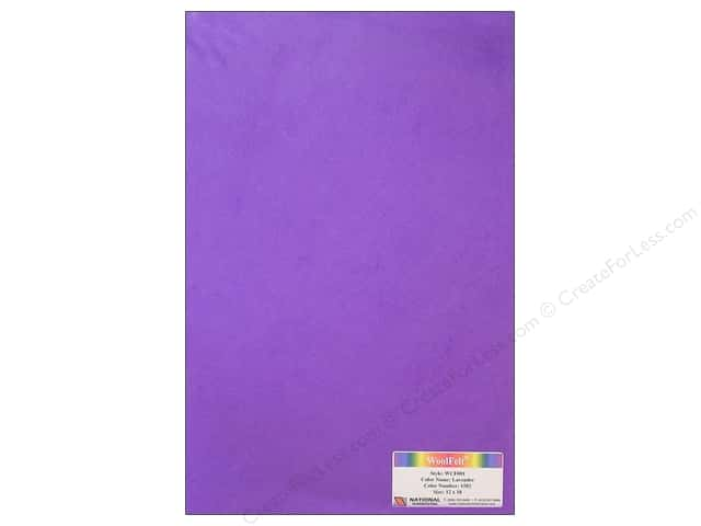 National Nonwovens 20% Wool Felt 12 x 18 in. Lavender
