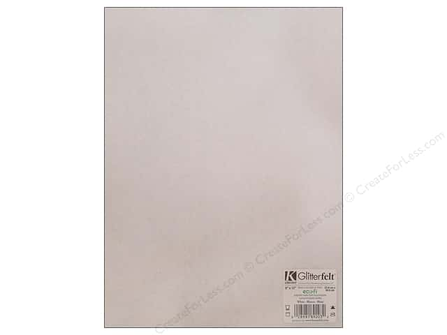 Kunin Felt 9 x 12 in. Glitter White (24 sheets)