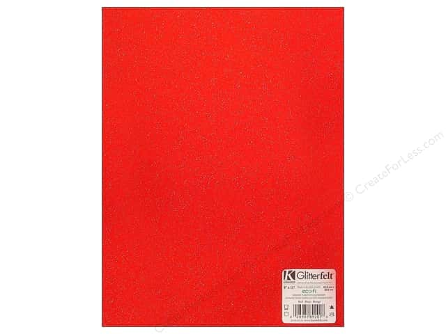 Kunin Felt 9 x 12 in. Glitter Red (24 sheets)