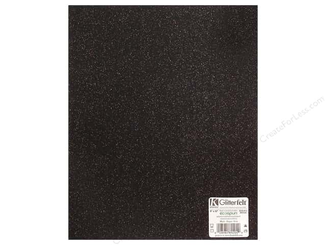 Kunin Felt 9 x 12 in. Glitter Black (24 sheets)