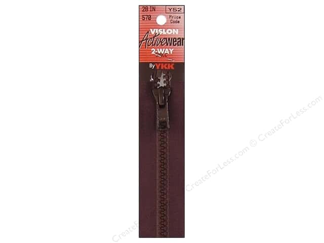 YKK Vislon 2-Way Separating Zipper 28 in. Sable