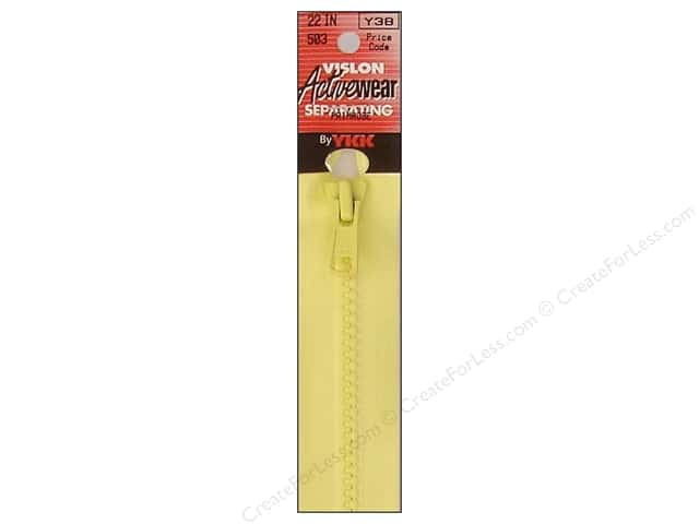YKK Vislon Separating Zipper 22 in. Primrose