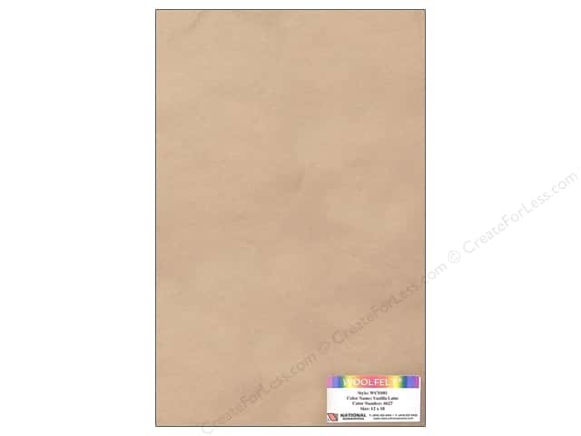 National Nonwovens 20% Wool Felt 12 x 18 in. Vanilla Latte