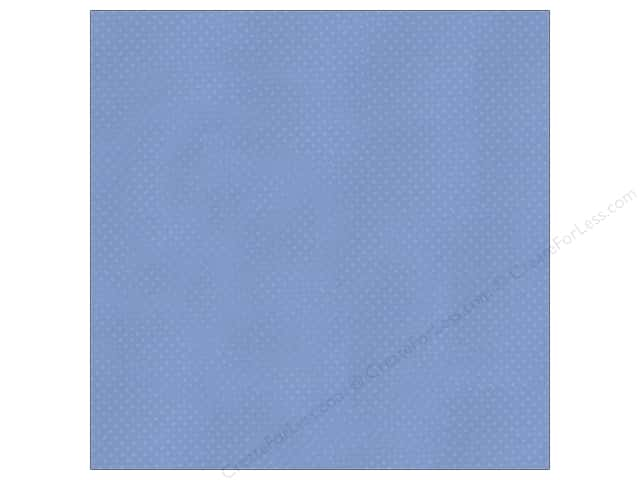 Bazzill 12 x 12 in. Cardstock Dotted Swiss Rip Tide (25 sheets)