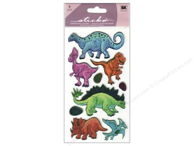 EK Sticko Stickers Metallic Dinos
