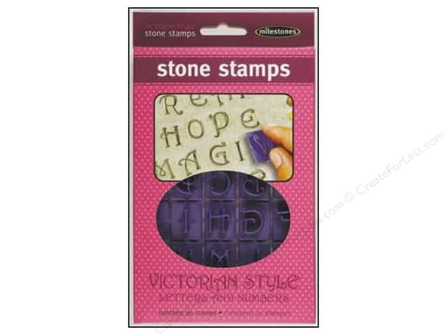 Milestones Stone Stamps -  Victorian Style Letters & Numbers