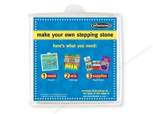 Milestones Stepping Stone Mold 12 in. Large Square