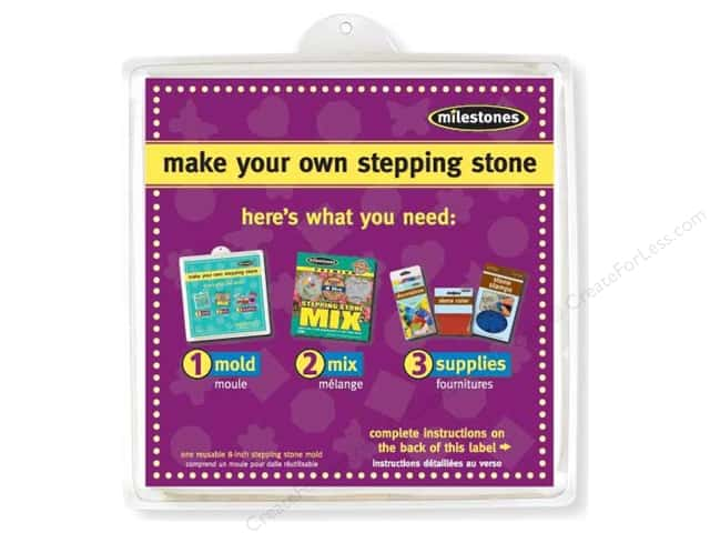 "Milestones Stepping Stone Mold 8"" Square"