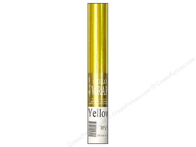 Cello Wrap 30 in. x 5 ft. Solid Yellow
