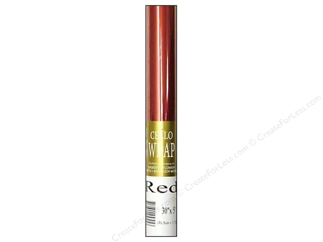 Cello Wrap 30 in. x 5 ft. Solid Red