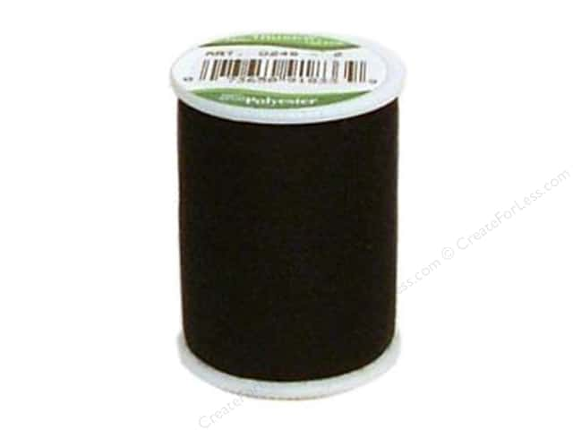 Coat Trusew Polyester Thread 150 yd. Black (12 spools)