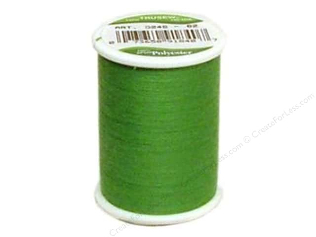 Coat Trusew Polyester Thread 150 yd. Emerald (12 spools)