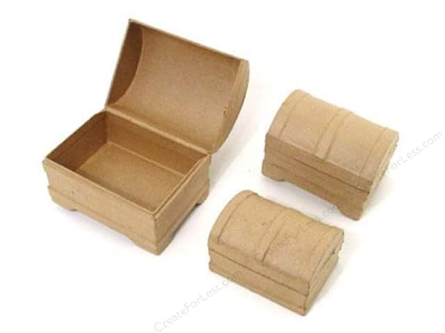 PA Paper Mache Mini Chest Box Set of 3 (12 sets)