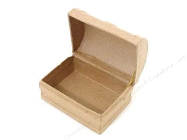 PA Paper Mache Mini Chest Box 3 3/4 in.