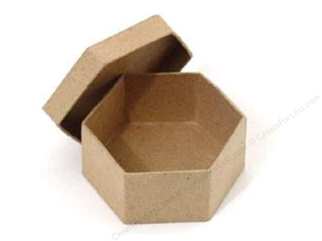 Paper Mache Mini Hexagon Box by Craft Pedlars (36 pieces)