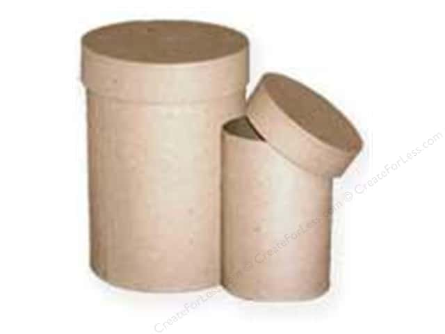 PA Paper Mache Round Box Tall Small Set of 2 (8 sets)
