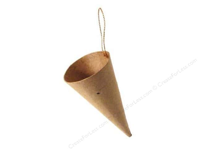 Paper Mache Cone Ornament  by Craft Pedlars (3 pieces)