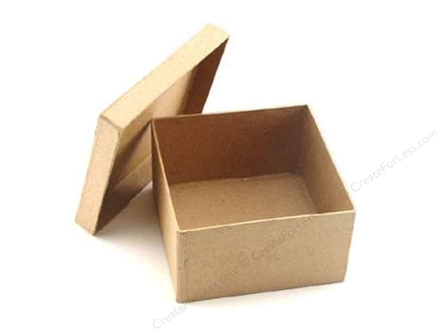 Paper Mache Square Box 4 1/2 in. by Craft Pedlars (24 boxes)