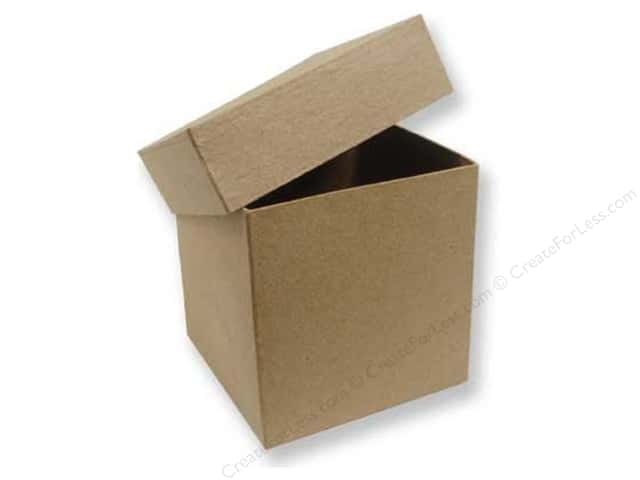 Paper Mache Tall Square Box 4 in. by Craft Pedlars (12 boxes)