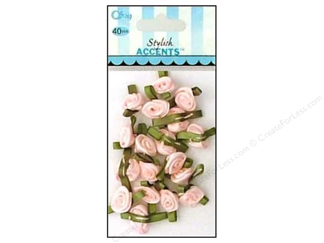 Offray Ribbon Accent Roses Small Value Pack Light Pink 40pc