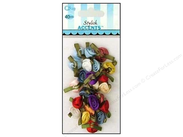 Offray Ribbon Accent Roses Small Value Pack Multi 40pc