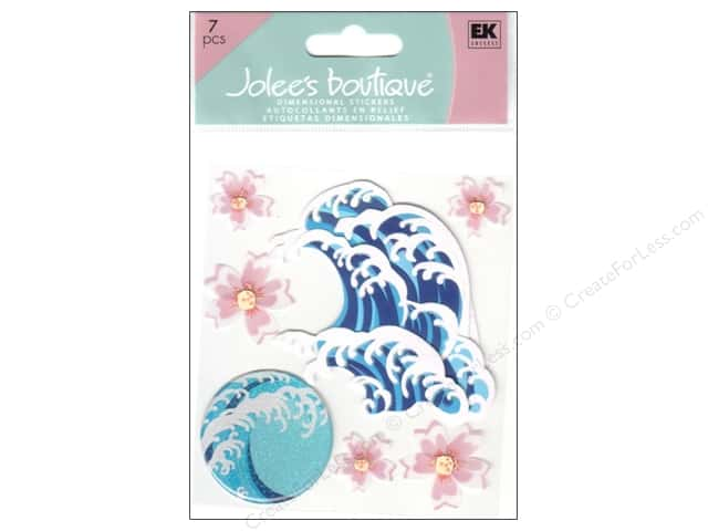 Jolee's Boutique Stickers Hibiscus And Waves