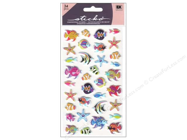 EK Sticko Stickers Puffy Tropical Fish