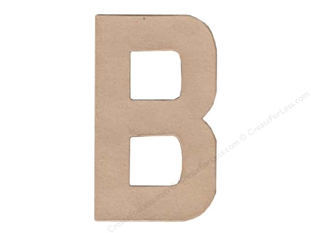 Paper Mache Letter B by Craft Pedlars 8 in.