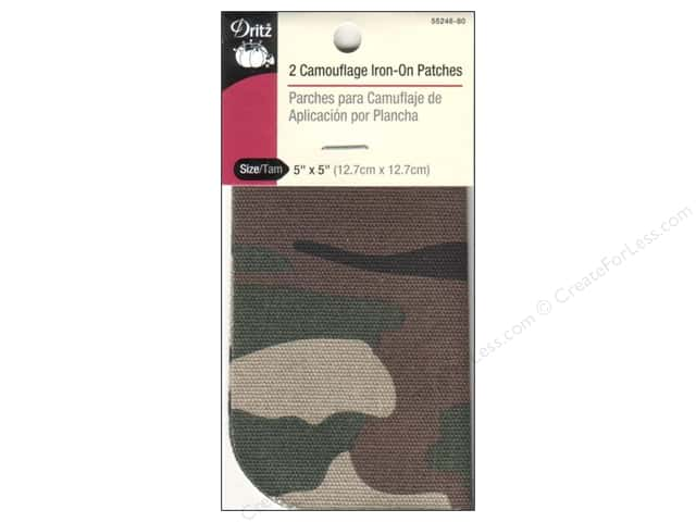 Dritz Camouflage Iron-On Patches - 5 x 5 in. Green 2 pc.