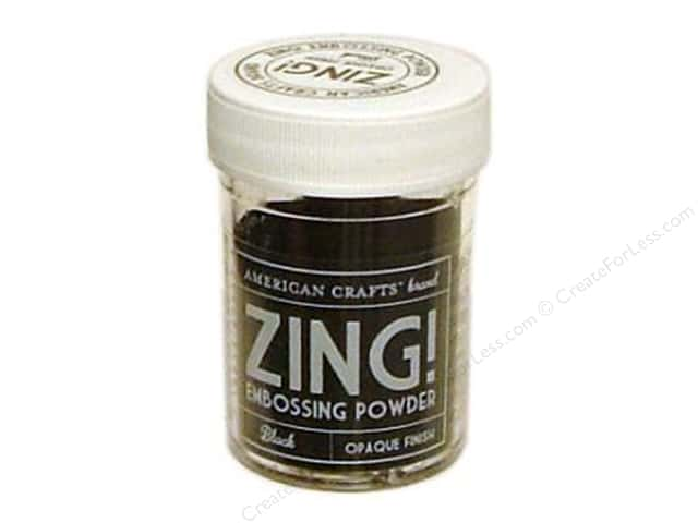 American Crafts Zing! Embossing Powder 1 oz. Opaque Black