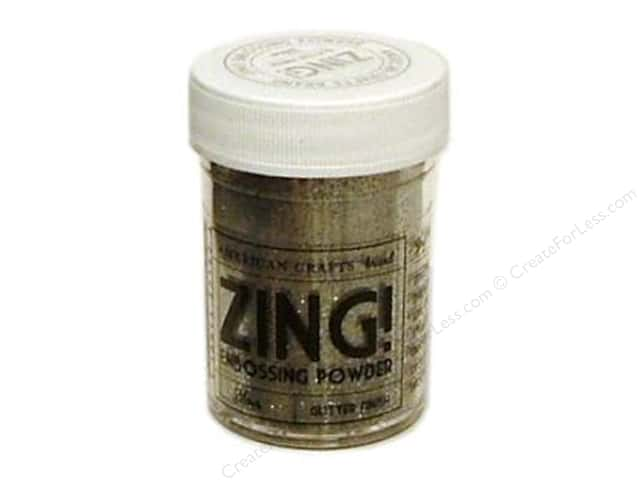 American Crafts Zing! Embossing Powder 1 oz. Glitter Silver