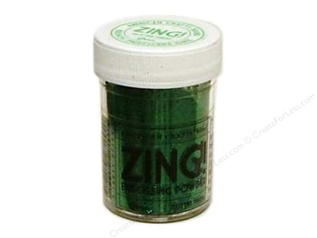 American Crafts Zing! Embossing Powder 1 oz. Glitter Green