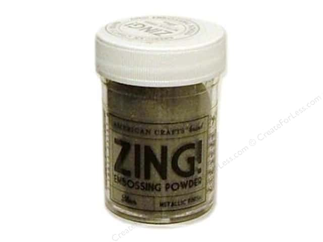 American Crafts Zing! Embossing Powder 1 oz. Metallic Silver