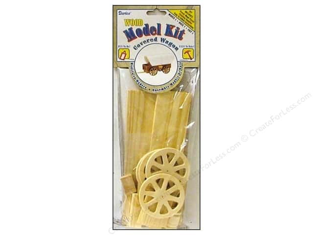 Darice Wood Model Kit Covered Wagon 8 1/2 x 4 1/2 in.