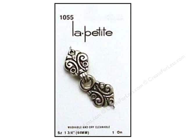 LaPetite Closure Buttons 1 3/4 in. Antique Silver/Black #1055 1 pc.