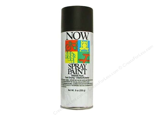 Krylon Now Spray Paint 9oz Flat Black