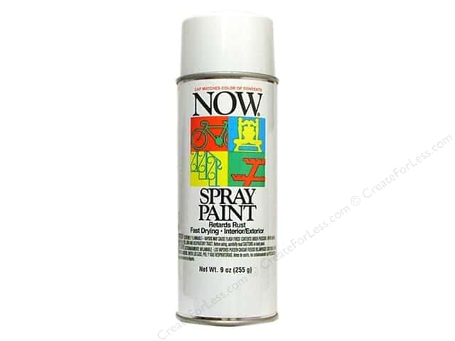 Krylon Now Spray Paint 9oz Gloss White
