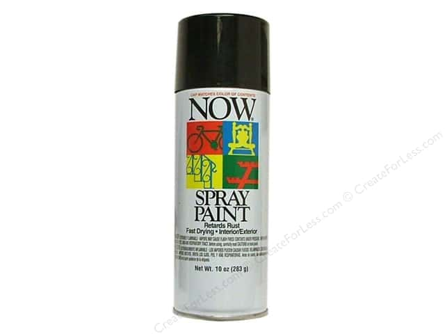 Krylon Now Spray Paint 9oz Gloss Black