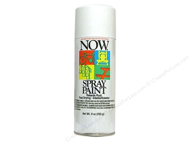 Krylon Now Spray Paint 9oz Flat White