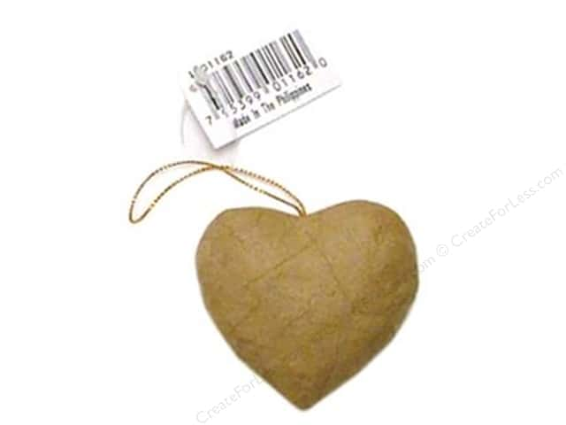 Paper Mache Puffy Heart Ornament by Craft Pedlars