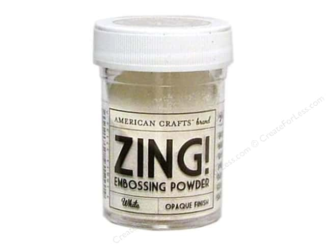 American Crafts Zing! Embossing Powder 1 oz. Opaque White