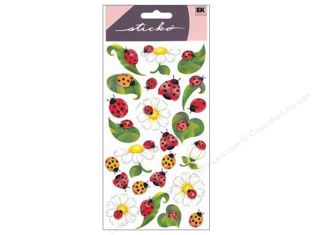 EK Sticko Stickers Ladybugs