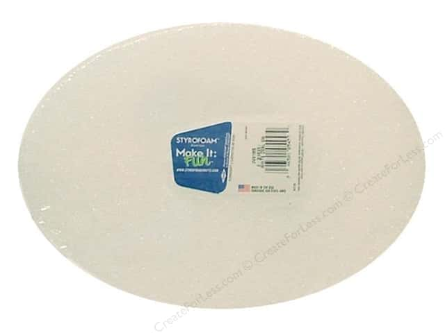 FloraCraft Styrofoam Oval 6 3/4 x 9 x 1 in. White 1 pc.