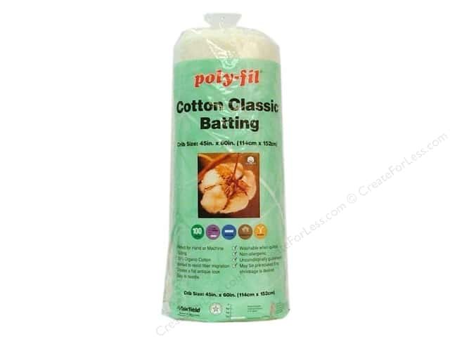 Fairfield Organic Cotton Classic Batting 45 x 60 in.