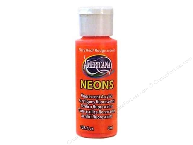 DecoArt Americana Neons Acrylic Paint 2 oz. #DHS4 Fiery Red